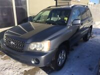 2002 Toyota Highlander SUV, Crossover *AS-TRADED SPECIAL*