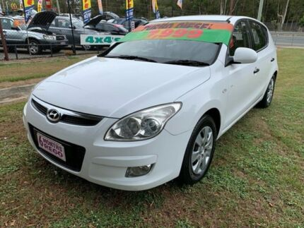 2009 Hyundai i30 FD MY09 SX 1.6 CRDi White 4 Speed Automatic Hatchback Clontarf Redcliffe Area Preview