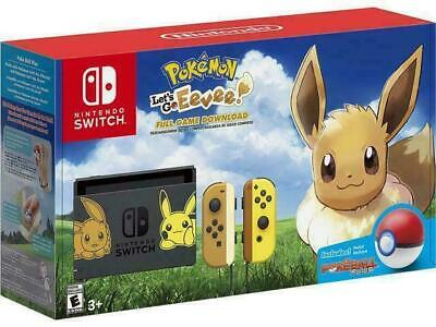 Nintendo Switch Console Bundle - Pikachu & Eevee Edition with Poke ball plus