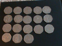 19 x 50p coins mostly Commonwealth