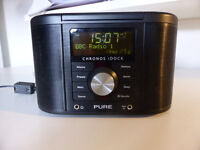 Pure Chronos iDock Series II DAB radio with iPhone dock (old style dock) with remote control