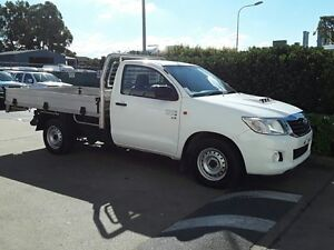 2013 Toyota Hilux KUN16R MY12 Workmate Glacier White 5 Speed Manual Cab Chassis Acacia Ridge Brisbane South West Preview