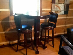 #TELUSHelpsMeSell BAR SET (3pc solid wood) Gatineau Ottawa / Gatineau Area image 1