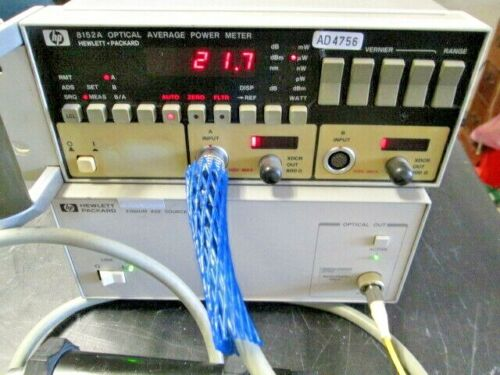 HP 8152A TESTED! WORKING! Optical Average Power Meter