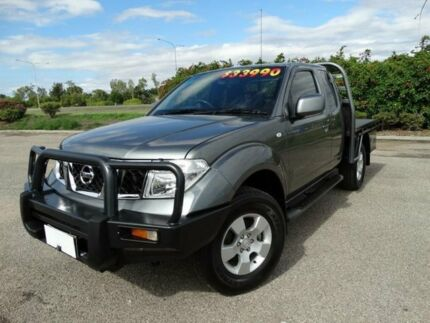 2012 Nissan Navara D40 MY12 ST-X (4x4) Slate Grey 6 Speed Manual Kingcab Vincent Townsville City Preview