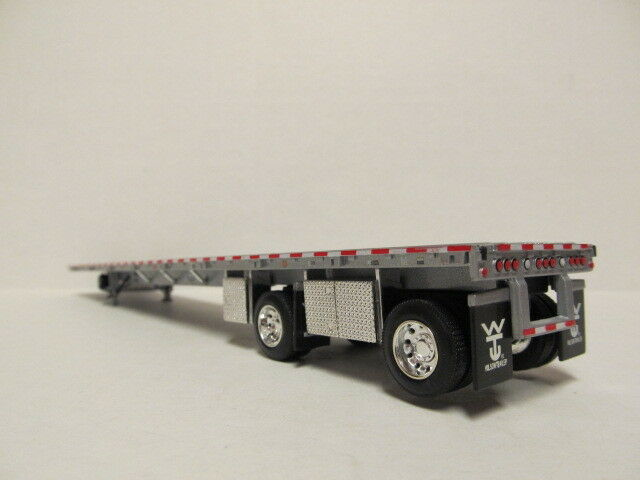 DCP 1/64 SCALE WILSON  ROAD  BRUTE  FLATBED  TRAILER  SILVER DECK, SILVER FRAME 1