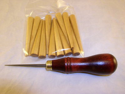 World's Best Caning Awl, Must See! Plus 12 Caning Pegs