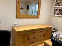 Next Dining Room sideboard and Mirror. Also table without chairs all immaculate condition.