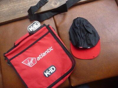 virgin  atlantic  K.ID  bag  with  long  strap  &  hat