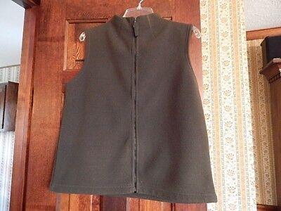 Willi Smith Ladies Full Zipper Polar Fleece Vest Jacket Sweater Size Medium