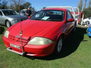 2002 Ford Falcon AUII XL Red 4 Speed Automatic Cab Chassis Camden Camden Area Preview