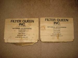 Assorted vintage Filter Queen parts