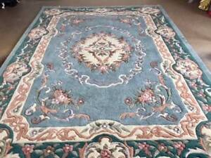 Rug - 100% wool, hand-knotted, large