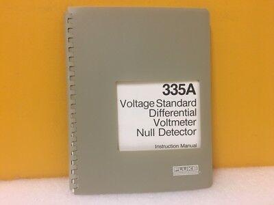 Fluke 293944 335a Voltage Standard Differential Voltmeter Null Detector Manual