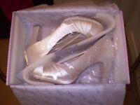 Kimberly Ivory Satin Bridal Shoes