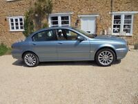 Superb Jaguar X Type Diesel 2ltr Powder Blue over Cream Leather Ex Service History