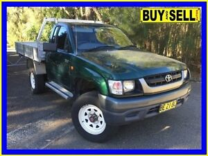 2002 Toyota Hilux RZN169R (4x4) Green 5 Speed Manual 4x4 Cab Chassis Lansvale Liverpool Area Preview