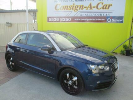 2011 Audi A1 8X MY12 Attraction S tronic Blue 7 Speed Sports Automatic Dual Clutch Hatchback