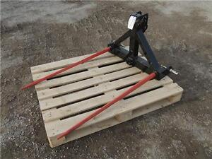 "HLA 3pt. Hitch Bale Spear - 49"" tines, 2"" receiver for ball hitc Regina Regina Area image 1"