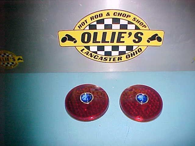 1934 1935 1936 PLYMOUTH DODGE GLASS TAIL LIGHT LENSES BLUE DOT HOT RAT ROD