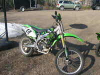 WANTED TO TRADE,KX 450f,FOR CAMPER