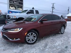 2015 Chrysler 200 Limited / 3.6L V6 PENTASTAR* / 9 SPEED! LOW KM