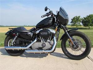 2008 harley-davidson XL1200N  Blacked Out Cafe Style 1200cc Nigh