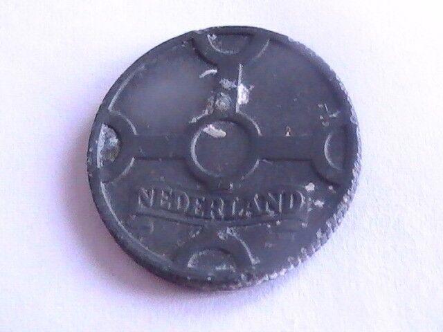 NETHERLANDS 1942 Nederland Coin Netherlands Dutch WWII era