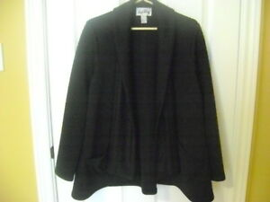 JOSEPH RIBKOFF, QUILTED, BLACK, SWING JACKET