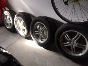 winter tires with aluminum rims for sale