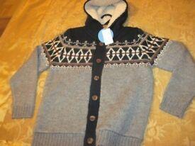 Brand New - M&S Boys Hooded Cardigan - - £5 - -