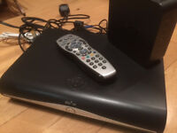 working Sky plus satellite box, hub and cables