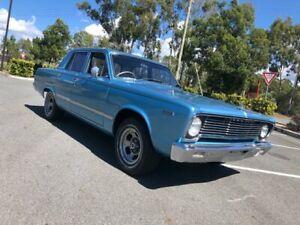 1966 Chrysler Valiant VC 273 V8 Blue Automatic Sedan Arundel Gold Coast City Preview