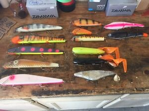 Lot of Musky Baits.. First 150.00$ takes the lot...