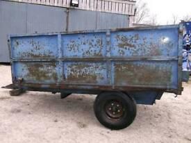 Tractor hydraulic tipping trailer farming