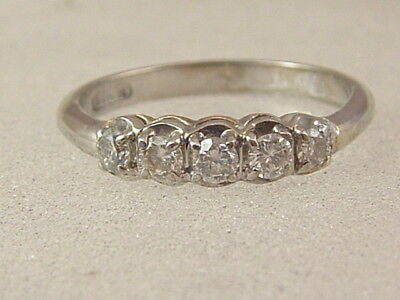 14K DIAMOND WEDDING BAND  14 KARAT WHITE GOLD 1/2 CARAT DIAMOND ANNIVERSARY RING