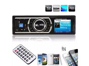 BRAND NEW Car Stereo Radio 1DIN SD USB LCD MP3/WMA REMOTE