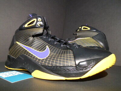 8a65a6e8956b 08 NIKE HYPERDUNK SUPREME KOBE LA LAKERS AWAY BLACK PURPLE GOLD 333373-051  10.5