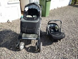 Silver Cross Freeway Pram/Pushchair/Car Seat