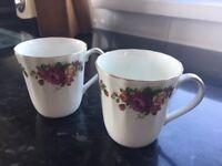 Argyle bone china mugs