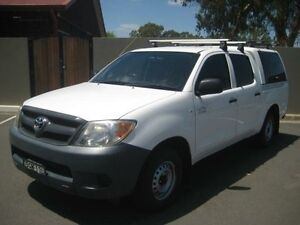 2008 Toyota Hilux TGN16R 08 Upgrade Workmate White 5 Speed Manual Dual Cab Pick-up Riverstone Blacktown Area Preview