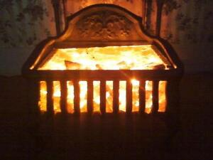 Antique electric fireplace