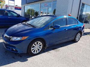 2012 Honda Civic EXL Sedan.GPS/NAV. HEATED LEATHER! SUN ROOF ++