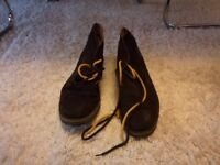 NEW & LINGWOOD SUEDE HIGH END FORMAL SHOES - DARK BROWN