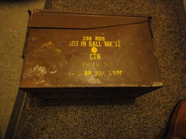 made in 1968 then stamped 1973 british army ammo box
