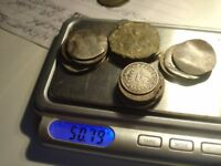 100 GRAMS OF SCRAP SILVERCOINS & ARTIFACTS