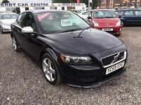 2009 VOLVO C30 1.6D DRIVe R DESIGN DIESEL FULL CREAM AND BLACK LEATHER