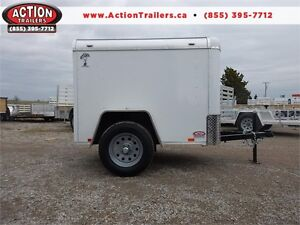 4 X 6 ENCLOSED STEEL CARGO TRAILER - JUST ARRIVED!!