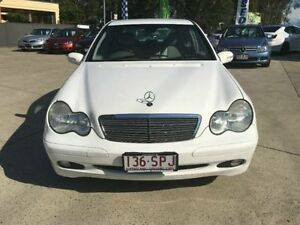 2002 Mercedes-Benz C180 W203 Classic White 5 Speed Automatic Sedan Southport Gold Coast City Preview