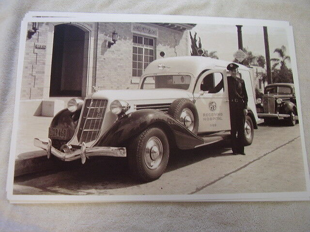 1938 AUBURN AMBULANCE  11 X 17  PHOTO PICTURE
